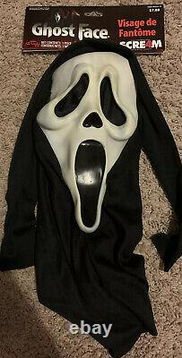 Scream mask RARE Italian tag vanilla scented easter unlimted stamp Vintage
