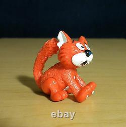 Smurfs 20439 Frightened Azrael Smurf Cat Toy Rare Vintage Figure PVC Figurine