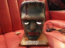 Super Rare Frankenstein Speaker Lamp Monster Vintage Horror Halloween Used