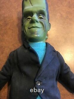 Super Rare Vintage Collectible Herman Munster Doll By Mattel 1964 Non Talking