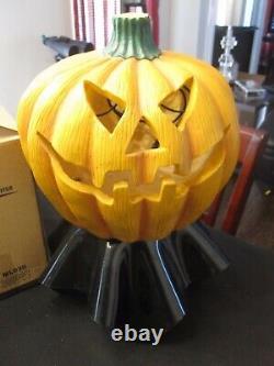 ULTRA RARE VINTAGE Mist Decorative Lamp Halloween Evil Pumpkin With Box Color