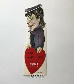 Unused Rare Vintage Halloween Valentine Spooky Mod Hippie Beatnik Ghoul Monster