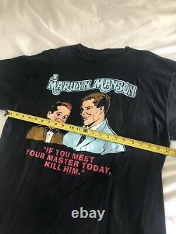 VERY RARE OG Marilyn Manson MEET YOUR MASTER shirt vintage nin goth wonderland