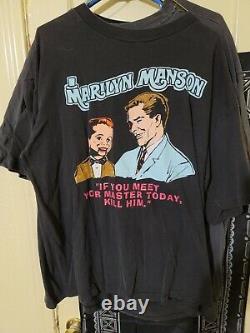 VERY RARE OG Marilyn Manson MEET YOUR MASTER vintage nin goth nine inch nails