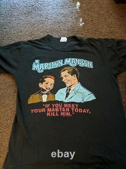 VERY RARE Original Marilyn Manson MEET YOUR MASTER vintage LG t-shirt Winterland