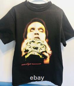 VINTAGE 1997 Marilyn Manson Original Tshirt Large very RARE Skull Tour Shirt