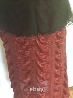 VINTAGE Lip Service Red L Goth Fetish Dress RARE Hot Topic