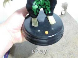 VTG RARE HTF Green Gemmy Grave Raver Halloween Prop Animated Dancing Skeleton