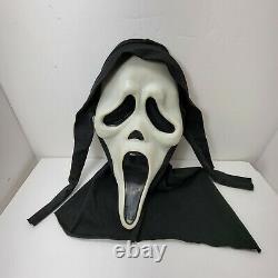 VTG SCREAM GhostFace Mask Fun World Div Rare Glow Fantastic Faces cotton shroud