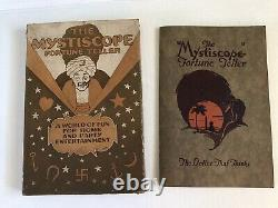 Vintage 1925 THE MYSTISCOPE FORTUNE TELLER VERY RARE Spinner Wheel Box Halloween