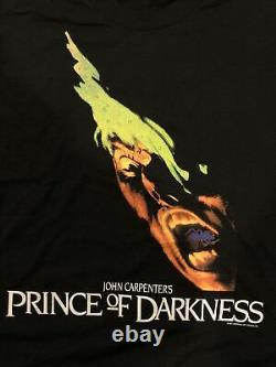 Vintage 1987 Prince Of Darkness Rare Screen Stars Size L Tshirt Movie Promo