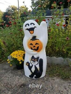 Vintage 1990's Rare Sunhill Ghost/Cat/Pumpkin Halloween Lighted Blow Mold 33