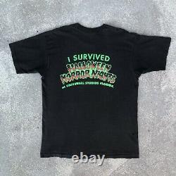 Vintage 1991 Halloween Horror Nights Universal Studios T Shirt XL RARE 1st HHN