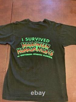 Vintage 1992 Halloween Horror Nights Universal Studios T Shirt L RARE 1st HHN