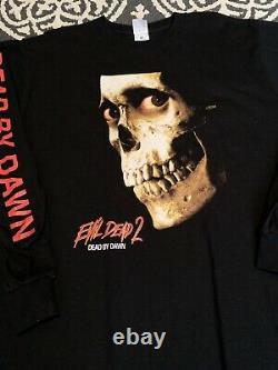 Vintage 90s Evil Dead 2 T Shirt Size XL Rare Akira Halloween Freddy Longsleeve T