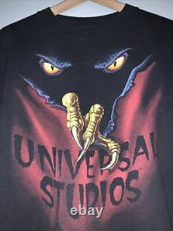Vintage 90s Halloween Horror Nights Shirt Single Stitch Universal Studios Rare L