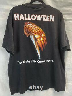 Vintage 90s Halloween Michael Myers Tultex Size XL Movie Promo T-Shirt RARE