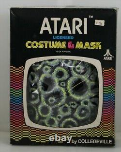 Vintage Atari Asteroids Collegeville Halloween Costume And Mask With Box Rare