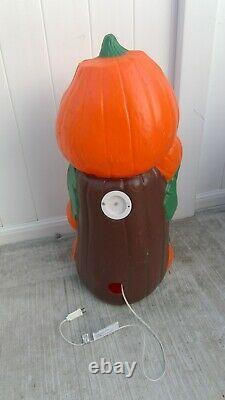Vintage Blow Mold Jack O Lantern Pumpkin Lighted Rare 34 Figure