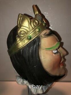 Vintage Cesar Snow White Evil Queen Latex Mask Halloween Female Dominatrix RARE
