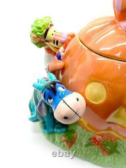 Vintage Disney Halloween Cookie Jar Winnie The Pooh Tigger Eeyore 1998 RARE