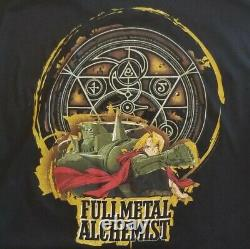 Vintage Fullmetal Alchemist Mens Rare Black Anime T Shirt Large Graphic Manga