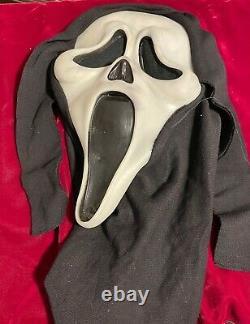 Vintage GEN 1 SCREAM Ghost Face Mask FUN WORLD DIV Rare Glow In The Dark 90s