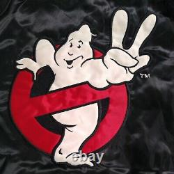 Vintage Ghostbusters II Bomber Jacket 80s Sci-Fi Movie Promo Halloween RARE