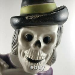 Vintage Grave Skeleton Halloween Light Up Blow Mold 27 Super Rare