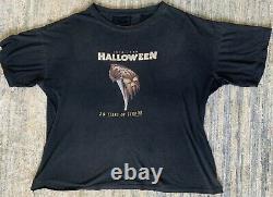 Vintage HALLOWEEN 20 Years of Terror Movie Promo Shirt 1998 XL Rare Orginal