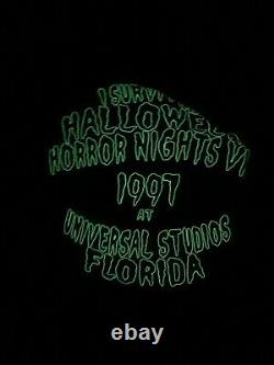 Vintage HALLOWEEN HORROR NIGHTS Staff 1997 Universal Studios T Shirt XXL Rare