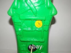 Vintage Halloween Blow Mold Light Up Rare Green Haunted House Mansion 17