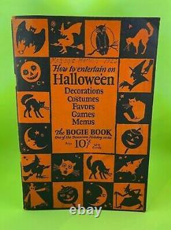 Vintage Halloween Decorations Bogie Book 1920's Dennison Co. 14th Edition RARE