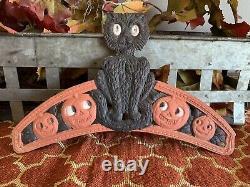 Vintage Halloween German Diadem Tiara Black Cat JOLs RARE