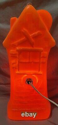 Vintage Halloween HAUNTED HOUSE Rare BLOW MOLD 16.5 Light Up