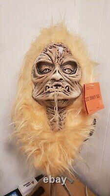 Vintage Halloween Mask Be Something Studios Shrunken Head 80s creepy Voodoo Rare