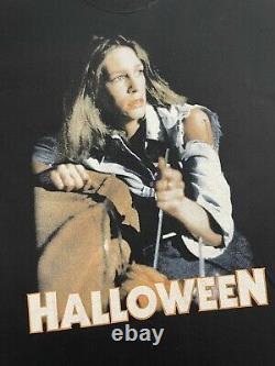 Vintage Halloween Michael Meyers Horror Promo Shirt Blue Grape Sz XL 2001 RARE