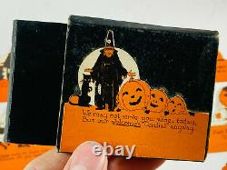 Vintage Halloween RARE Partial Set (9) of Rustcraft Place Cards in Box NICE