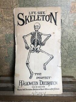 Vintage Halloween Skeleton Diecut 1950s Beistle Made In USA 52 Very Rare