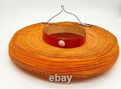 Vintage Halloween Smiling Pumpkin Honeycomb Paper Lantern 1920s 1960s RARE