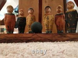 Vintage Halloween style game brownie bowling pin boy figurines RARE