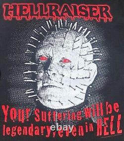 Vintage Hellraiser T-Shirt Horror Movie Halloween Clive Barker Large