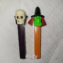 Vintage Pez Witch & Skull Halloween No Feet Rare