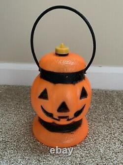 Vintage RARE Pumpkin Lantern Halloween Blow Mold Light Jack-O-Lantern