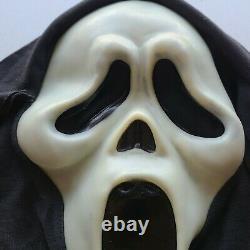 Vintage SCREAM Ghost Face Mask Fun World Div Gen 1 RARE Glow Fantastic Faces 90s