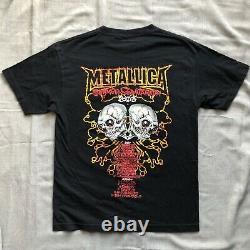 Vintage TOUR Metallica Pushead Rock Band T Shirt Mens Size M RARE
