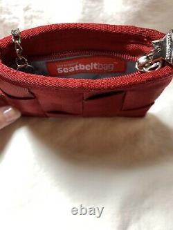 Vintage c2010 Red Harveys Seatbelt Bags Keychain Coin Purse RARE EUC