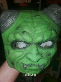 Vintage rare Goosebumps Latex Mask The Haunted MASK, CURLY AND HORROR LAND MASK