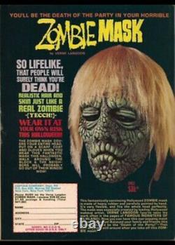 Vtg Rare 1972 Verne Langdon Zombie Glow Halloween Don Post Mask Mint Recast