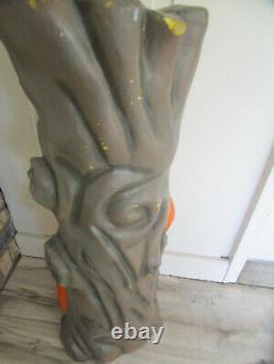 Vtg Rare 35 Blow Mold Spooky Halloween Tree Light J-O-L Pumpkin Plastic Foam